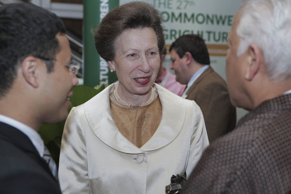 Princess Anne talking to delegates