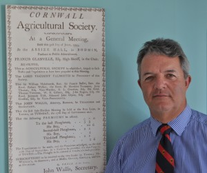 Christopher Riddle, Society Secretary of the Royal Cornwall Agricultural Assoication, is the RASC Member of the Month, October 2014